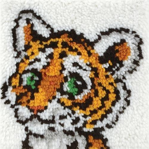 - Caron Natura Latch-Hook Kit, Tiger Cub, 12