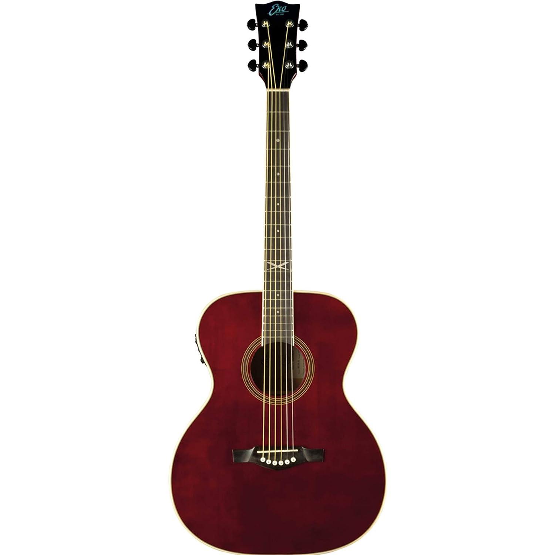 Guitarra acústica eléctrica EKO NXT 018 EQ Wine, color rojo ...