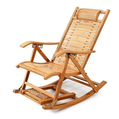 L Hpt Rocking Chair Pieghevole Sedia Di Bambù Reclinabile