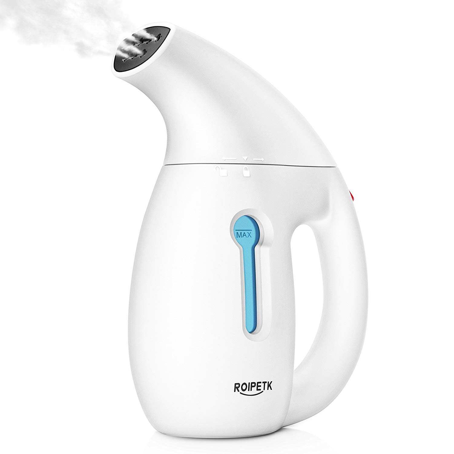 Steamer For Clothes,180ml Handheld Garment Steamer Portable Fabric Steamer 60 Seconds Heat-Up Travel Steamer Automatic Shut-off Safety Protection High Temperature Sterilization for Fabric (white)
