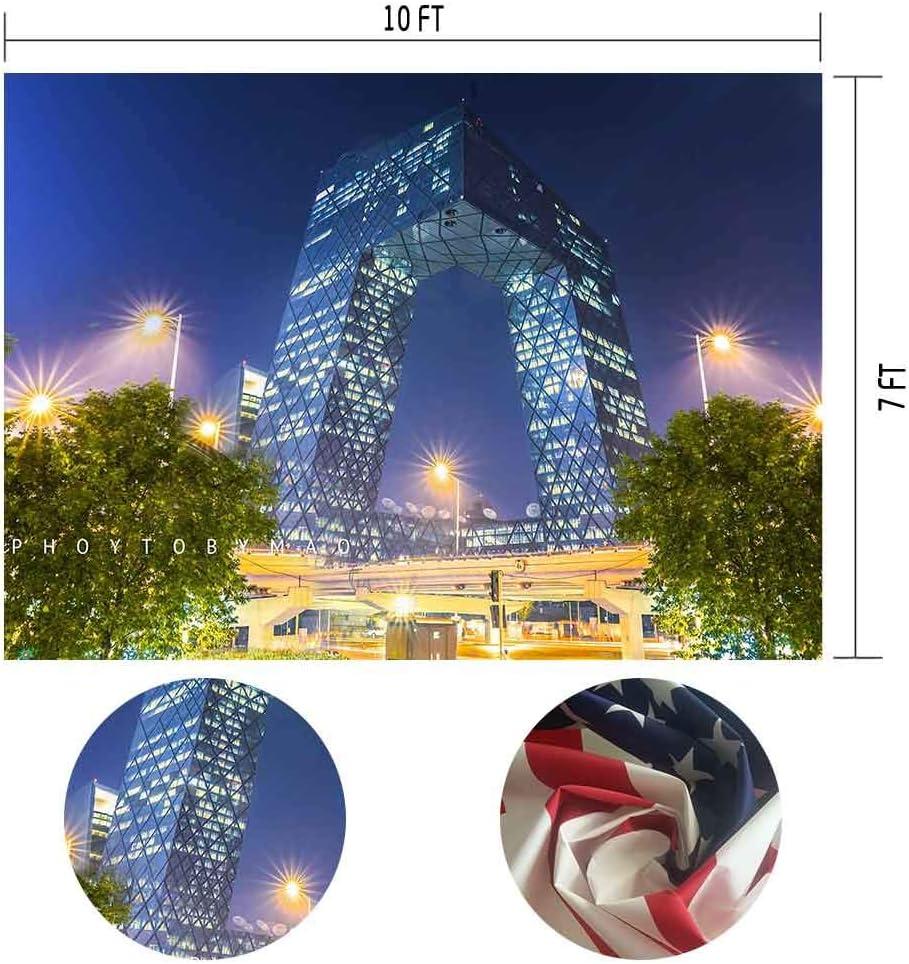 MTMETY 10X7ft Beijing Landmark Building CCTV Tower Beautiful City Background Photo Video Studio Props Backdrop XCME401