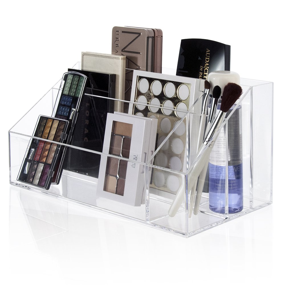 makeup palette organizer acrylic cosmetic case women brush holder storage box 6003125944727 ebay. Black Bedroom Furniture Sets. Home Design Ideas