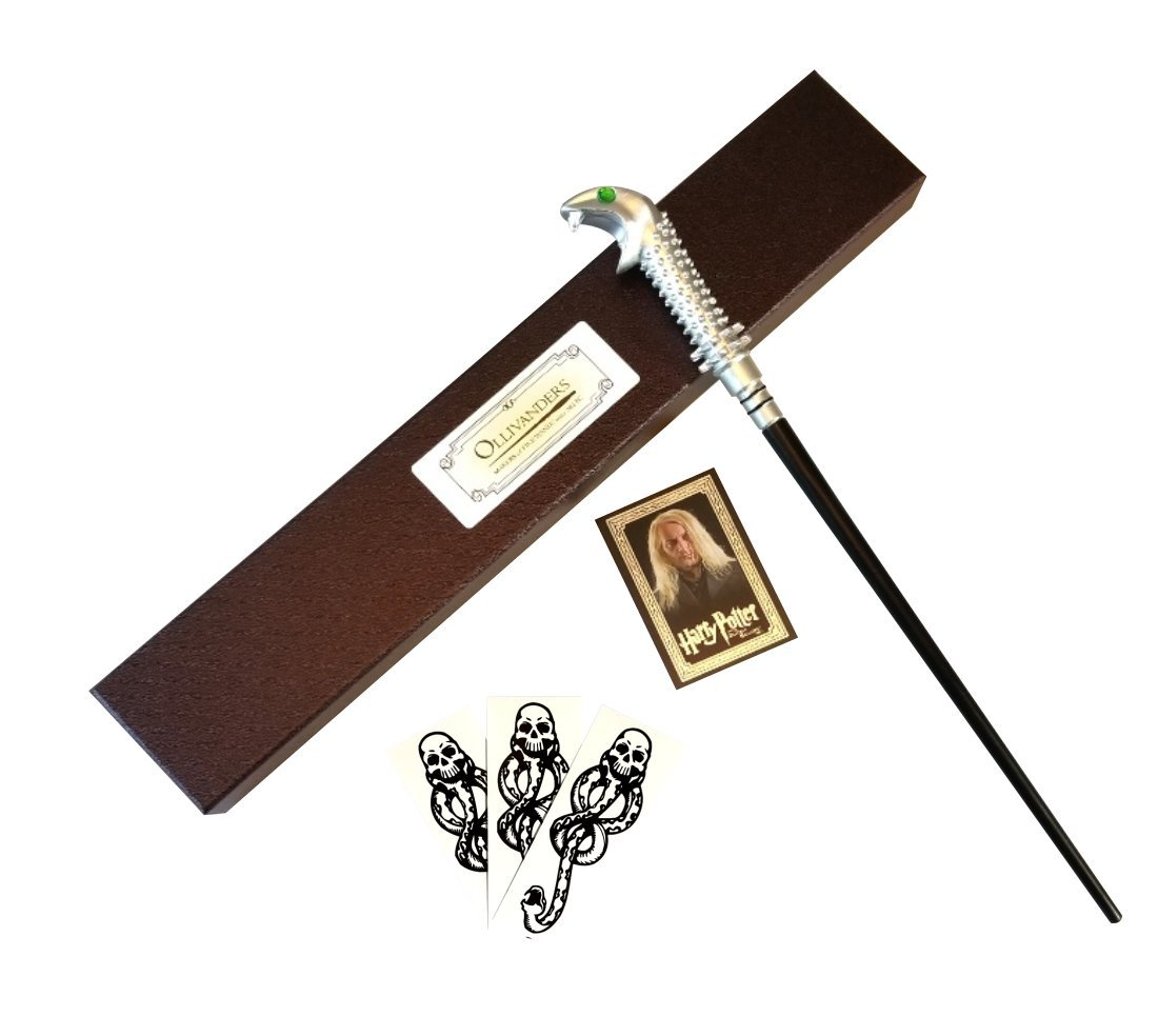 Wizarding Apothecary Harry Potter Lucius Malfoy Wand in Ollivander Box with Dark Mark tattoos by Wizarding Apothecary