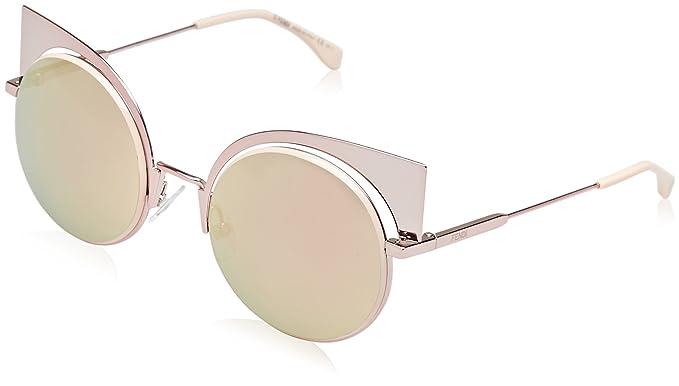 4bddd4690e26 Amazon.com: Fendi Women's Cat Eye Mirrored Sunglasses, Pink/Rose ...