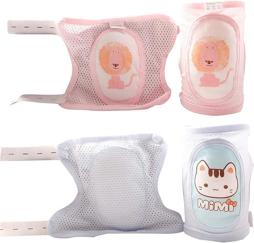 Aniwon 2 Paar Baby-knieschoner Atmungsaktiv Einstellbar Toddle Knieschoner Kniekappe Kniesch/ützer Zum Krabbeln