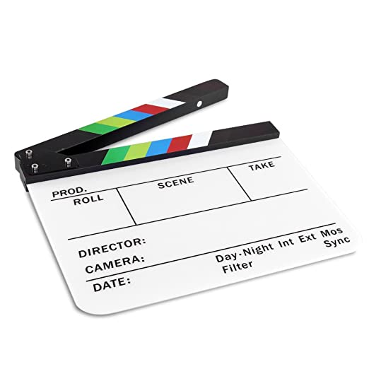 Amazon.com: Flexzion Director Clapboard Film Movie Clapper ...