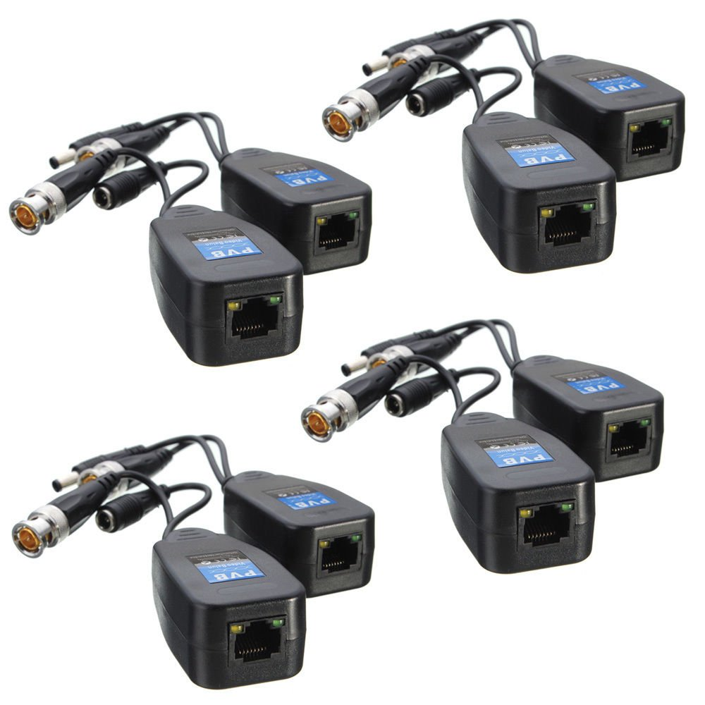 Cctv Coax Bnc Video Power Balun Transceiver Cat5e 6 Rj45 Jack Dc Female 55mm Standar Untuk Atau Pompa Connector 20 Pairs Computers Accessories