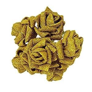 50PCS/LOT Artificial Fake Foam Rose Flowers Bridal Wedding Bouquet Bunch Home Decor 61