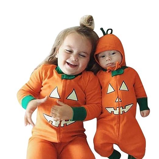 sunbona toddler baby brother sister matching pumpkin devil print long sleeve romper jumpsuitt shirt