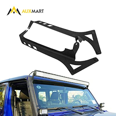 "AUXMART 52"" LED Light Bar Windshield Mounting Brackets for 2020~2020 Jeep Wrangler JL: Automotive"