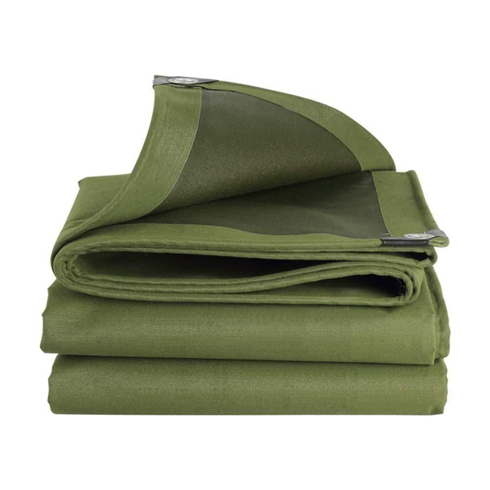 ZX タープ アウトドア防水シート厚い防水日焼け止めキャンバストラック車カバー テント アウトドア (Color : 緑, Size : 6x7m) 緑 6x7m