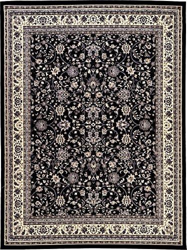 A2Z Rug 10-Feet-by-13-Feet Covent Garden Persian Traditional Design Rug, Black - Garden Black Area Rugs