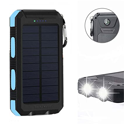 Amazon.com: Solar Power Bank 20000 mAh, cargador solar ...