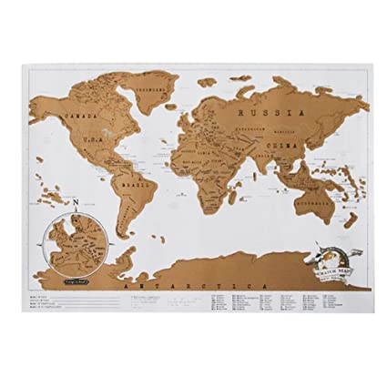 Amazon wingbind scratch world map scratch off places you wingbind scratch world map scratch off places you travelgold foil black scratch map gumiabroncs Images