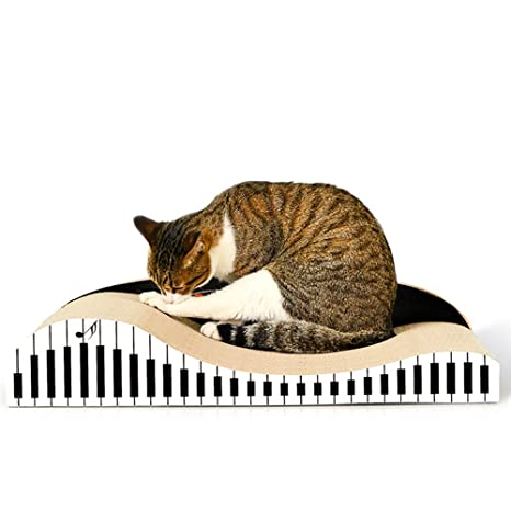 Cómodo Tablero de rascar gatos Patrón de piano Papel ...