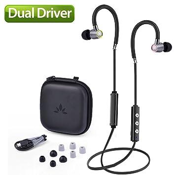 Avantree Dual Driver Hi-Fi Bluetooth Auriculares Intraurales con Óptimo Sonido para el oído de un Músico, Auricular Inalámbricos Aptx Aislante de Ruido con ...