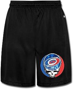 SYYSP Men's Skull Carolina Football Shorts Workout Pants