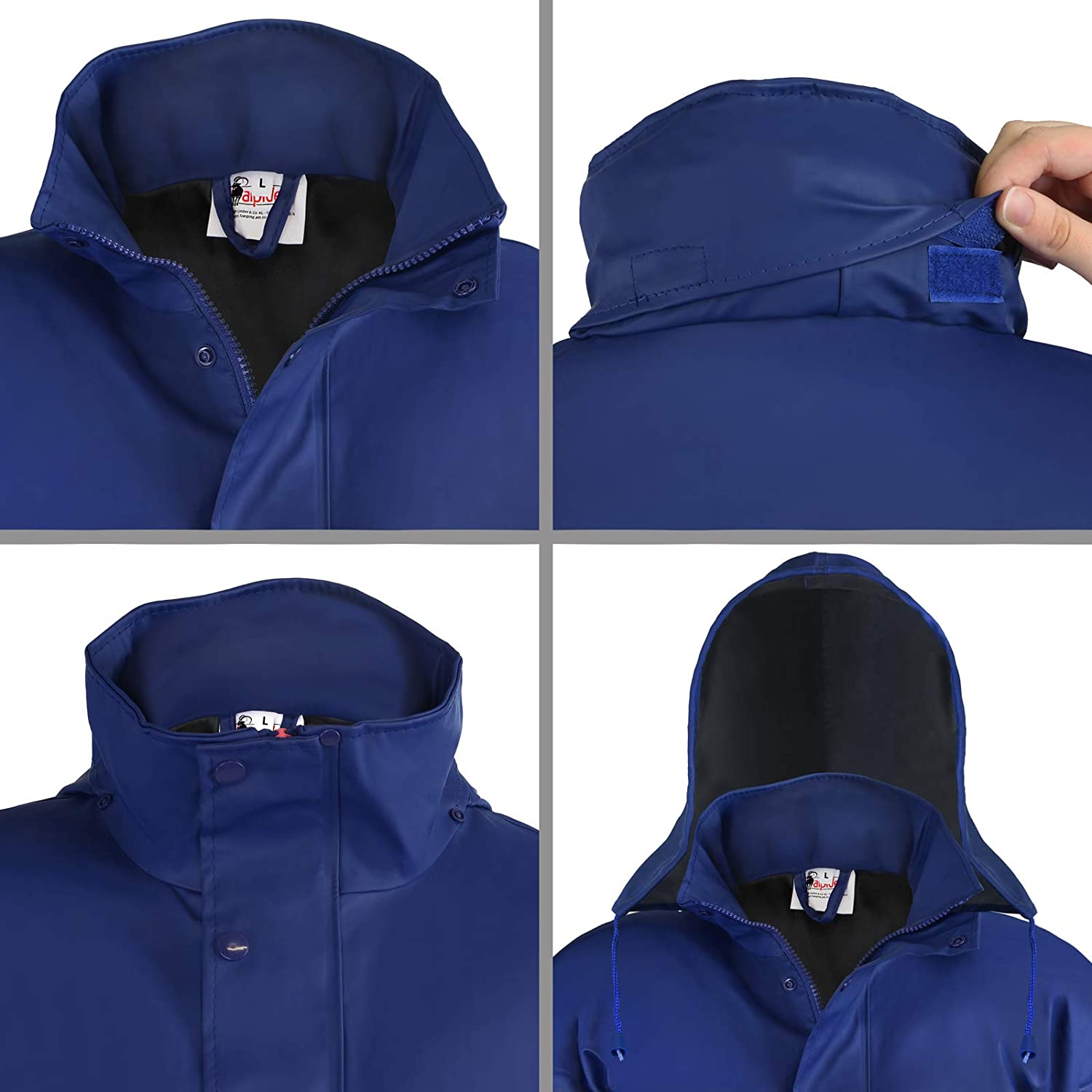 light windproof transitional jacket waterproof ALPIDEX Womens rain jacket with hood Size S M L breathable