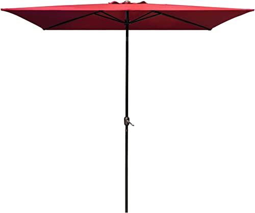 DOIFUN Rectangular Patio Umbrella Aluminum Outdoor Umbrella Market Table Umbrella