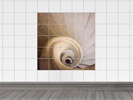 Piastrelle adesivo piastrelle immagine wendel scale in primo piano