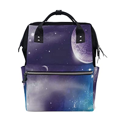 MIFSOIAVV Space Starry Night Sky Scenery Print School Travel Daypack: Clothing