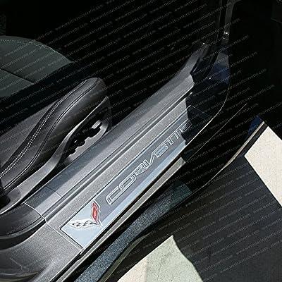 Corvette Clear Door Sill Protectors : C7 Stingray Z06 Clear Z51
