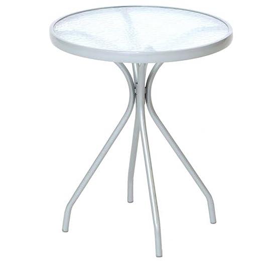 Mesa redonda Alassio 60 cm, estructura de acero + tablero de ...
