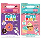 Scent Masters Water Magic - Reusable Water Reveal Activity Pads 2-Pack - Cupcake and Doughnut Scented
