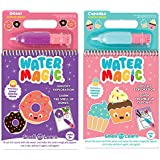 Scentco Water Magic - Paint with Water Activity Kit 2-Pack - Cupcake and Doughnut Scented Water Reveal Pads