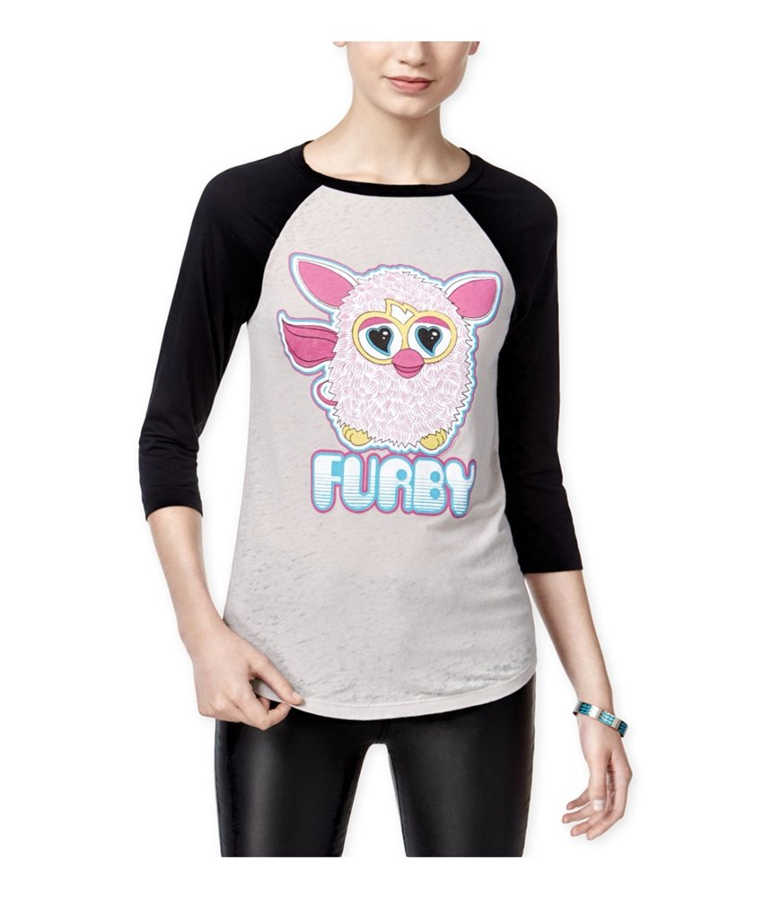 Mighty Fine Womens Furby Raglan Graphic T-Shirt