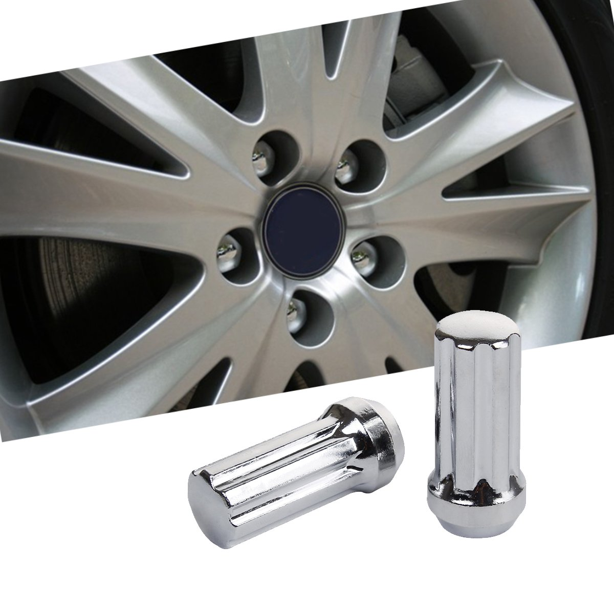 KSP Performance 24PC KSP 14mmx1.5(M14x1.5 thread pitch),60 Degree Conical Cone Seat Wheel Lug Nuts,Closed End 7 Spilne With 2 Keys For Chevy GMC Silverado Sierra Hummer With 6 Lugs Trucks by KSP Performance (Image #7)