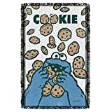 "Cookie Crumble -- Sesame Street -- Woven Blanket Tapestry (36""x58"")"