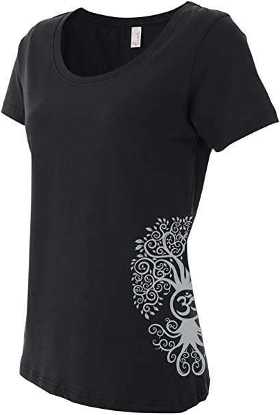 Amazon.com: Yoga Clothing For You Ladies Bodhi Tree T-Shirt ...
