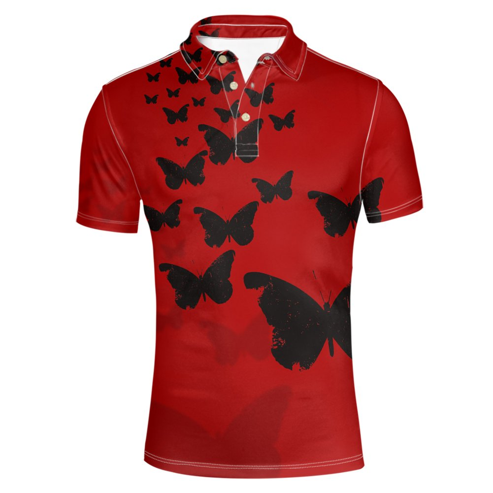 Pensura Summer 3D Printing Polos Shirt Pique Casual Party Shirt for Men XS-3XL