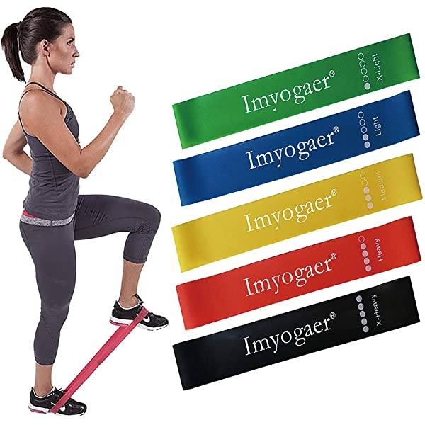 """5pcs Resistance Bands Exercise Loops 12/"""" Workout Home Fitness Stretching eBook"""