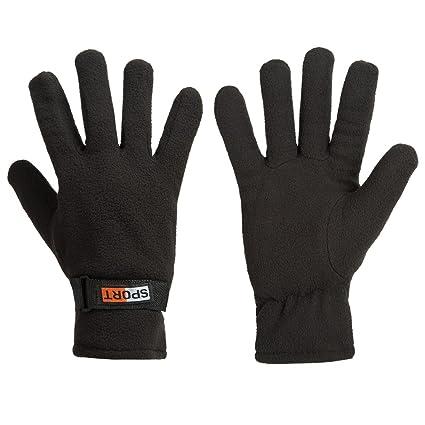 b3da20543 GLOUE Winter Gloves Winter Keep Warm Soft Fleece Lined Gloves Multiple  Color for Men(Black