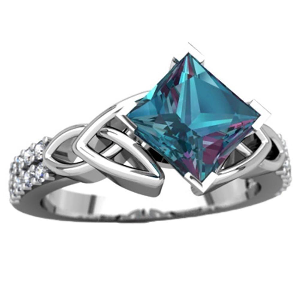 ZHUOTOP Women Bohemian Crystal Rings Engagement Wedding Ring Exquisite Shining