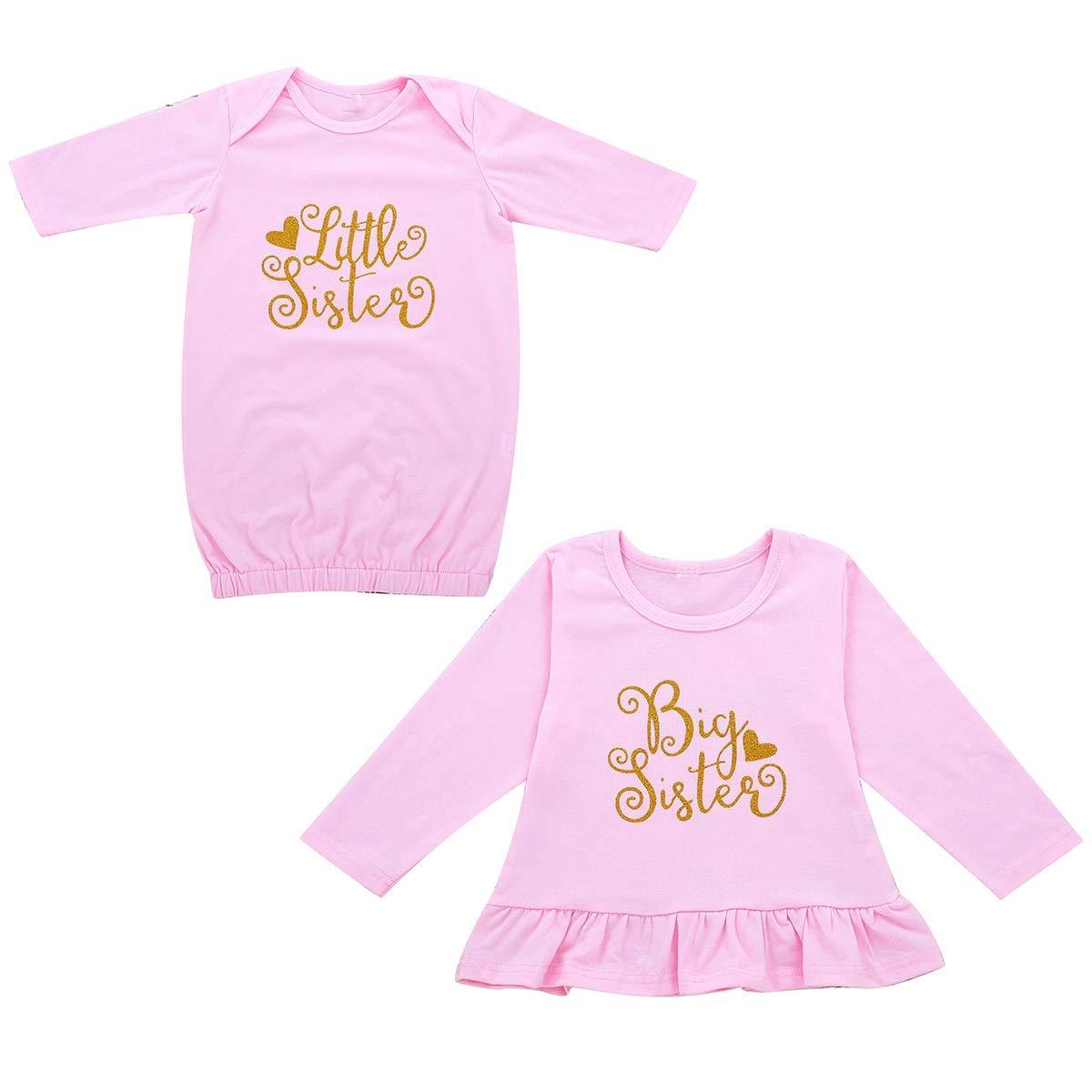 Pantaloni Floreali Set di Accessori per Fascia puseky Pagliaccetto Coordinato Manica Corta da Bambina Big Sister