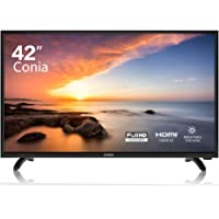 CONIA LED 42'' inches Full HD LED TV 1080p Flat Screen HDMI High Definition Widescreen Monitor Display 3 x HDMI Ports