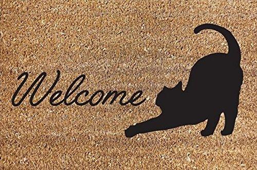 40x60cm Cat Clean Welcome Door Mat House Home Heavy Duty Carpet Rug Garden discountin ltd
