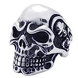 Amazon Price History for:KONOV Vintage Gothic Skull Biker Stainless Steel Mens Ring, Silver