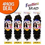 FreeTress Synthetic Hair Crochet Braids GoGo Curl 12' (4-Pack, 1)