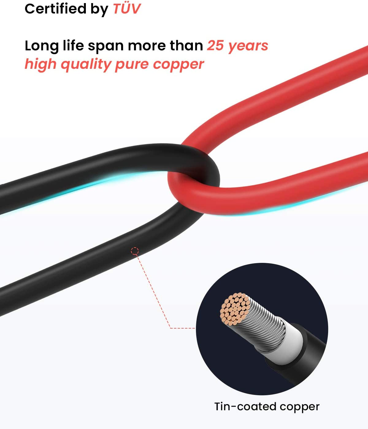 BougeRV 20 Feet 10AWG Solar Extension Cable with Female and Male Connector with Extra Free Pair of Connectors Solar Panel Adaptor Kit Tool (20FT Red + 20FT Black): Garden & Outdoor