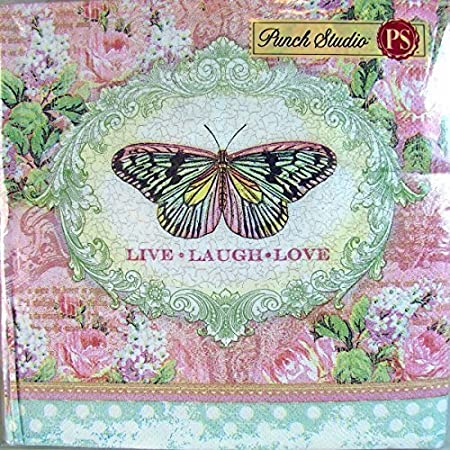 95911 Punch Studio 40 Ct Paper Luncheon Napkins, Butterfly Inspire ...