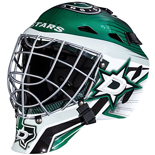 Franklin Sports Dallas Stars Goalie Mask - Team Graphic Goalie Face Mask - GFM1500 Only for Ball & Street - NHL Official Licensed Product ()