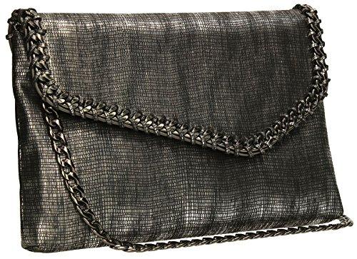 Metallic Suede Handbag - 4