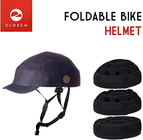 Closca - Casco Plegable para la bicicleta Denim Flatcap Bici ...