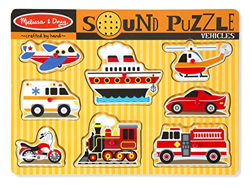 Melissa & Doug Vehicles Sound Puzzle image