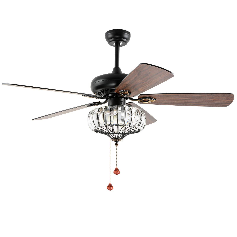 LuxureFan 72 Inch Ceiling Fan Downrod 0.98 inch-Diameter of Black