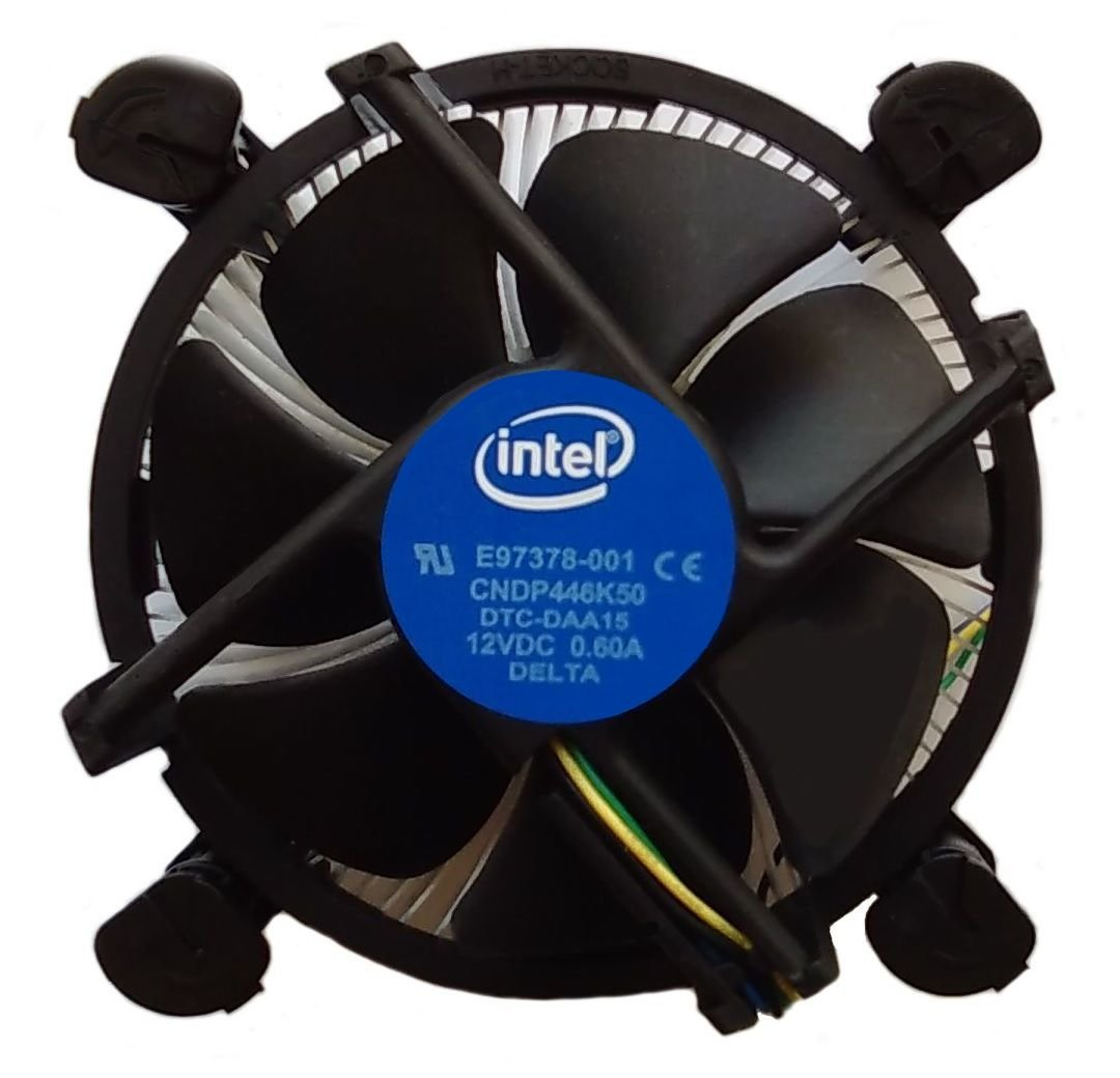 Intel Core i3 / i5 / i7 Socket 1156/1155 / 1151/1150 4-Pin Connector CPU Cooler With Copper Core Base & Aluminum Heatsink & 3.5-Inch Fan With Pre-Applied Thermal Paste (TS1) by TronStore (Image #1)